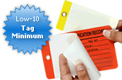 Custom Self-Laminating Tag Quoter