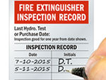 Professional Debossable Fire Extinguisher Inspection Labels & Tags Help Keep a Handy Record of Each Inspection.