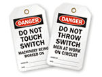 Do Not Throw Switch Tags