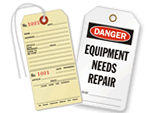 Equipment Needs Repair Tags