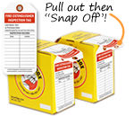 Tag-in-a-Box Extinguisher Inspection Tags