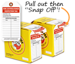 Tag-on-a-Roll Extinguisher Inspection Tags