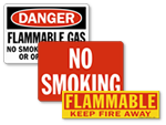 Flammable Material No Smoking