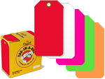 Fluorescent Plastic Tags in a Dispenser Box
