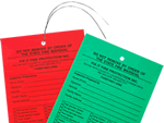 Fire Sprinkler Inspection Tags