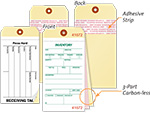 Inventory Tags with Adhesive Strip