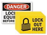 Lockout Labels and Signs