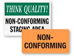 Non-Conforming Labels & Signs
