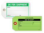 OK to Ship Tags