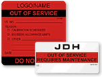 Out of Service Labels