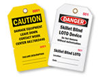 Custom Perforated Plastic Tags