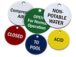Custom Engraved Plastic Valve Tags