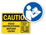 Read Instruction Labels