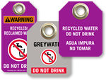 Recycled / Reclaimed Water Tags
