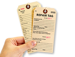 Repair Tags for Retail Store