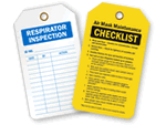 Safety Inspection Tags for PPE