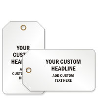 Text Style Plastic Tags