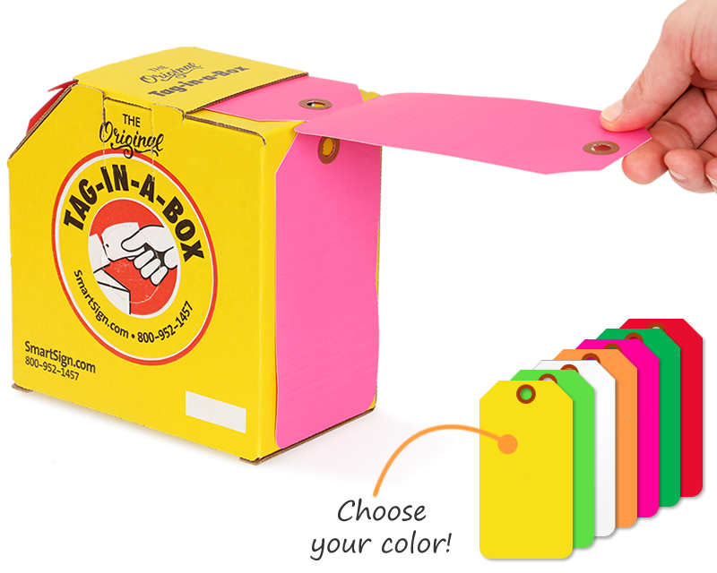 Color-Coded Tags-on-a-Roll - Vinyl Waterproof Tags
