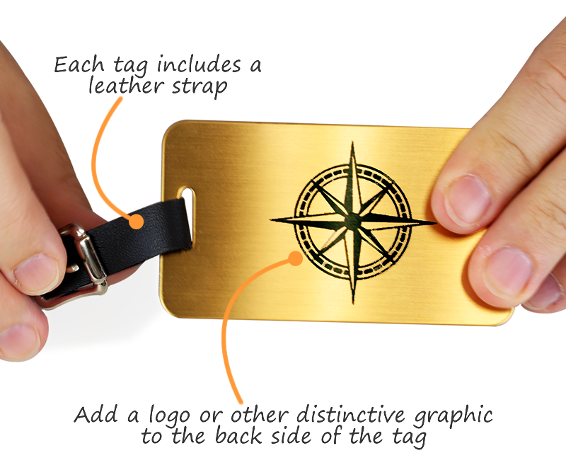 Custom Brass Luggage Tags