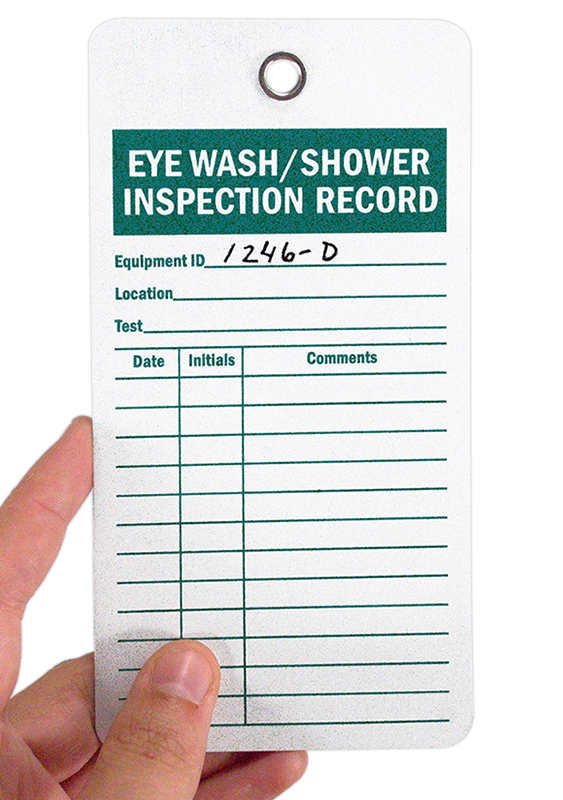 eyewash inspection tags - Eye Wash Station Osha
