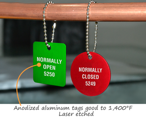 Anodized tags