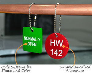 Anodized Valve Tags