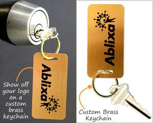 Brass Key Chain Tags