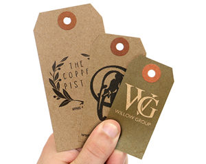 Custom Recycled Kraft Paper Tag Quoter