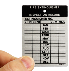 Professional Debossable Inspection Labels & Tags Help Keep a Handy Record of Each Inspection.
