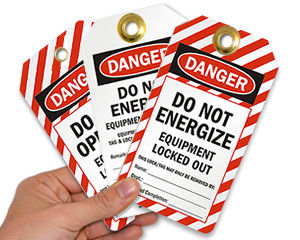 Equipment Locked Out Tags & Safety Lock Out Tags