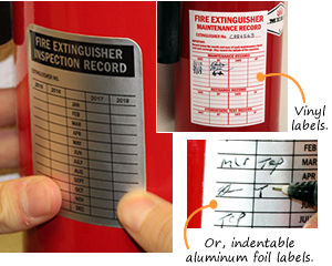 Fire Extinguisher Inspection Labels