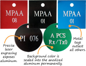 Engraved Anodized Tags