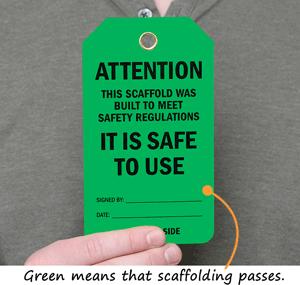 Green Scaffold Tags