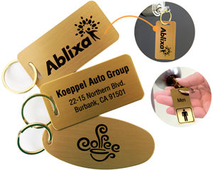 Key Chain Brass Tags