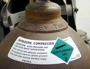 Gas Cylinder Shoulder Labels - Oxygen & Flammable Gas Labels