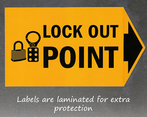 Lock out point labels