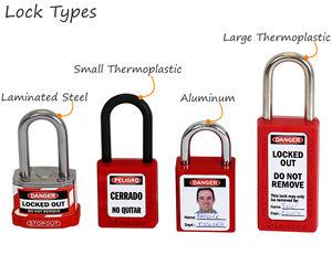 Lockout padlock labels