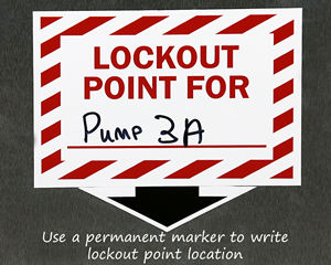 Lockout point stickers