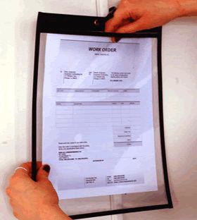 Vinyl Job Ticket Holders