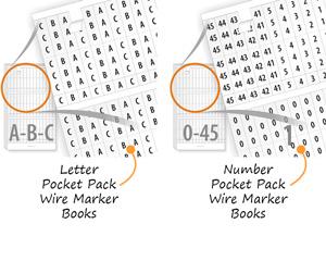 Number and Letter Wire Marker Pocket Packs