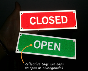 Reflective Metal Tags