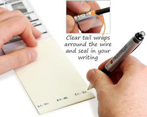 Self-Laminating Wire Write-On Labels