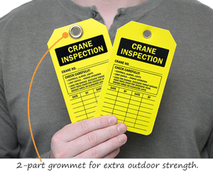 Crane Inspection Tags