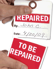 Two-Part Repair Tag