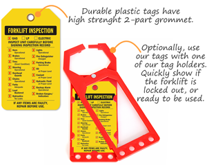 Forklift Inspection Tag Holders