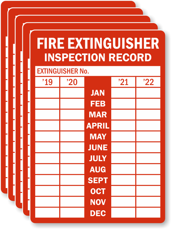 4 5 Year Record Fire Extinguisher Tags