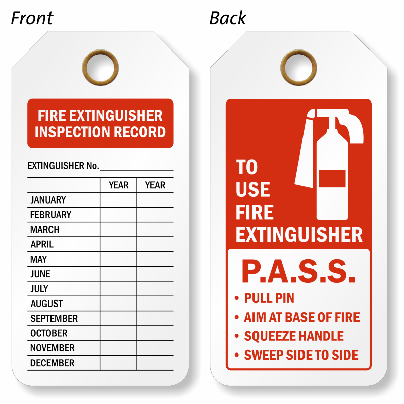 Free fire extinguisher inspection tags template kamos sticker for Fire extinguisher inspection tag template