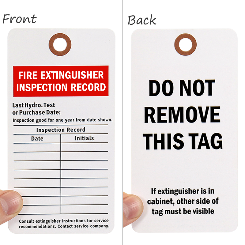 Fire Extinguisher Inspection Tag, SKU - 5514-C-100