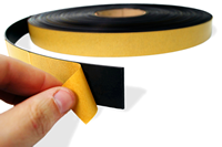 Magnetic Roll Stock, Self Adhesive Backed, 1/2 in. x 100'