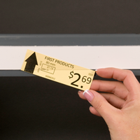 Slip Strip, Label holder strips, 3/4 in. x 36 in.